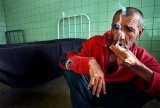 A Mental Patient Smoking Nicotine